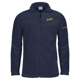 Columbia Full Zip Navy Fleece Jacket-Beavers Script