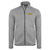 Grey Heather Fleece Jacket-BVU Monogram