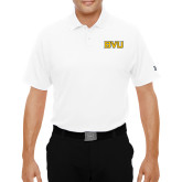 Under Armour White Performance Polo-BVU Monogram