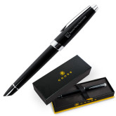 Cross Aventura Onyx Black Rollerball Pen-BV University Lock Up Horizontal Engraved
