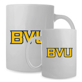 Full Color White Mug 15oz-BVU Monogram