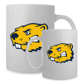 Full Color White Mug 15oz-Mascot Head