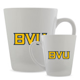 Full Color Latte Mug 12oz-BVU Monogram