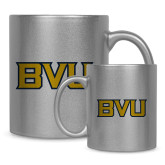 Full Color Silver Metallic Mug 11oz-BVU Monogram