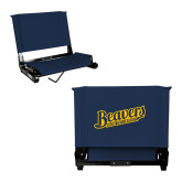 Stadium Chair Navy-Beavers Script with Name