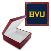 Red Mahogany Accessory Box With 6 x 6 Tile-BVU Monogram