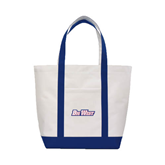 Contender White/Navy Canvas Tote-