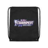 Black Drawstring Backpack-Big West Tournament 2017 Womens Soccer