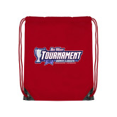 Red Drawstring Backpack-Big West Tournament 2017 Womens Soccer