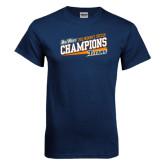Navy T Shirt-2015 Womens Soccer - Cal State Fullerton