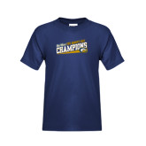 Youth Navy T Shirt-2015 Womens Golf Champions - UC Davis