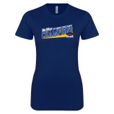 Next Level Ladies SoftStyle Junior Fitted Navy Tee-2017 Womens Cross Country Champions