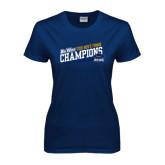 Ladies Navy T Shirt-2016 Mens Tennis - UCSB