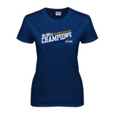 Ladies Navy T Shirt-2016 Womens Water Polo - UCSB
