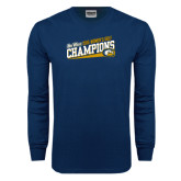 Navy Long Sleeve T Shirt-2015 Womens Golf Champions - UC Davis