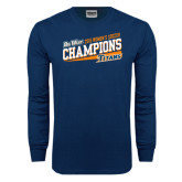 Navy Long Sleeve T Shirt-2015 Womens Soccer - Cal State Fullerton