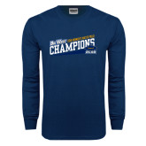 Navy Long Sleeve T Shirt-2016 Womens Water Polo - UCSB