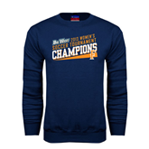 Champion Navy Fleece Crew-Womens Soccer Winners 2013 - Cal State Fullerton