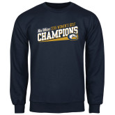 Navy Fleece Crew-2015 Womens Golf Champions - UC Davis