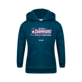 Youth Navy Fleece Hoodie-Big West Champions 2016 UCSB Mens Soccer