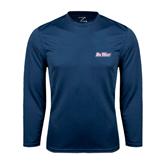 Performance Navy Longsleeve Shirt-