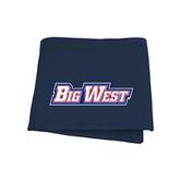 Navy Sweatshirt Blanket-