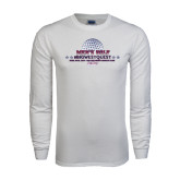 White Long Sleeve T Shirt-Mens Golf Championship 2015