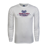 White Long Sleeve T Shirt-Track & Field Championship 2015