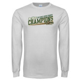 White Long Sleeve T Shirt-2017 Mens Cross Country Champions - Cal Poly