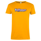 Ladies Gold T Shirt-Big West Championships 2017 Cross Country