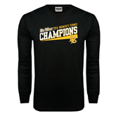 Black Long Sleeve TShirt-Womens Tennis Winners 2014 - Long Beach