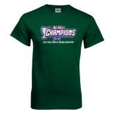Dark Green T Shirt-Big West Champions 2016 Cal Poly Mens Cross Country
