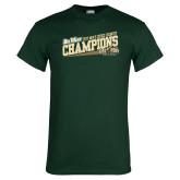 Dark Green T Shirt-2017 Mens Cross Country Champions - Cal Poly