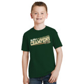 Youth Dark Green T Shirt-2017 Mens Cross Country Champions - Cal Poly