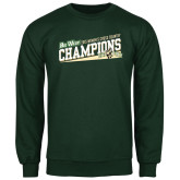 Dark Green Fleece Crew-2015 Womens Cross Country - Cal Poly