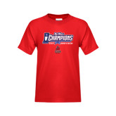 Youth Red T Shirt-Big West Champions 2016 CSUN Womens Soccer