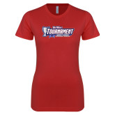 Next Level Ladies SoftStyle Junior Fitted Red Tee-Big West Tournament 2017 Womens Soccer