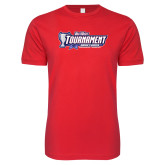 Next Level SoftStyle Red T Shirt-Big West Tournament 2017 Womens Soccer