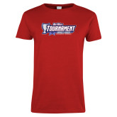 Ladies Red T Shirt-Big West Tournament 2017 Womens Soccer