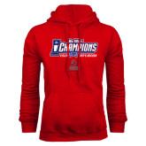 Red Fleece Hoodie-Big West Champions 2016 CSUN Mens Soccer