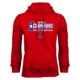 Red Fleece Hoodie-Big West Champions 2016 CSUN Womens Soccer