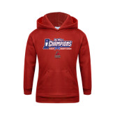 Youth Red Fleece Hoodie-Big West Champions 2016 CSUN Womens Soccer
