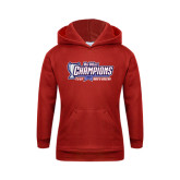 Youth Red Fleece Hoodie-Big West Champions 2016 CSUN Mens Soccer