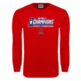 Red Long Sleeve T Shirt-Big West Champions 2016 CSUN Womens Soccer