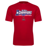 Performance Red Tee-Big West Champions 2016 CSUN Womens Soccer
