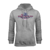 Grey Fleece Hoodie-Womens Water Polo Championship 2015