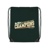 Dark Green Drawstring Backpack-2017 Mens Cross Country Champions - Cal Poly