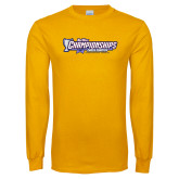Gold Long Sleeve T Shirt-Big West Championships 2017 Cross Country