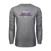Grey Long Sleeve T Shirt-Mens Golf Championship 2015