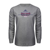 Grey Long Sleeve T Shirt-Mens Tennis Championship 2015